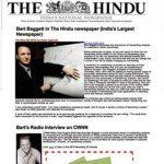 Bart Baggett appears in India's Hindu Magazine and CNWW Radio!