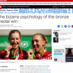 Why winning a Bronze Medal is more satisfying than a Silver.