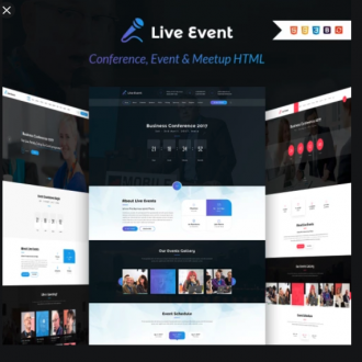 Your Live Event Sales Page